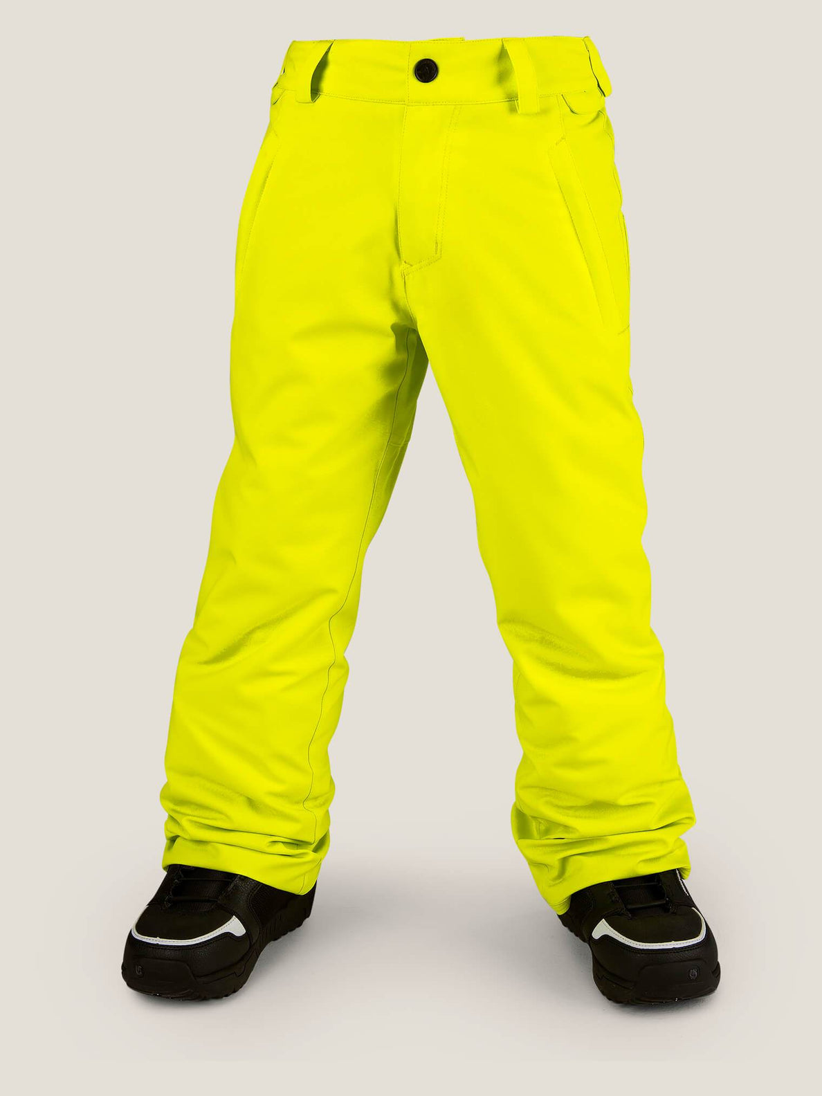 Explorer Insulated Pant In Lime, Front View