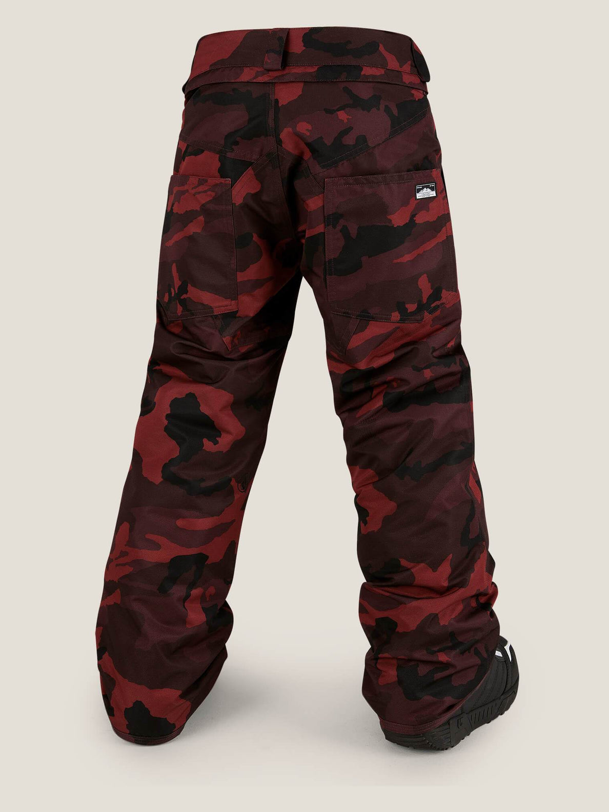 Explorer Insulated Pant In Red, Back View