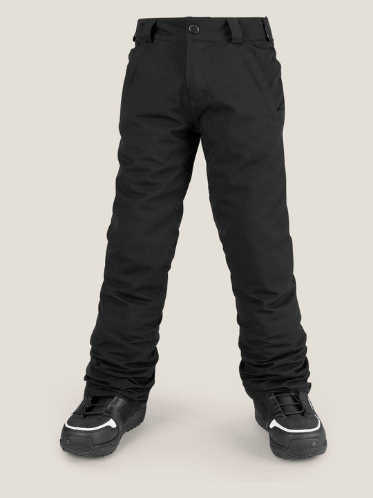 Big Boys Freakin Snow Chino In Black, Front View