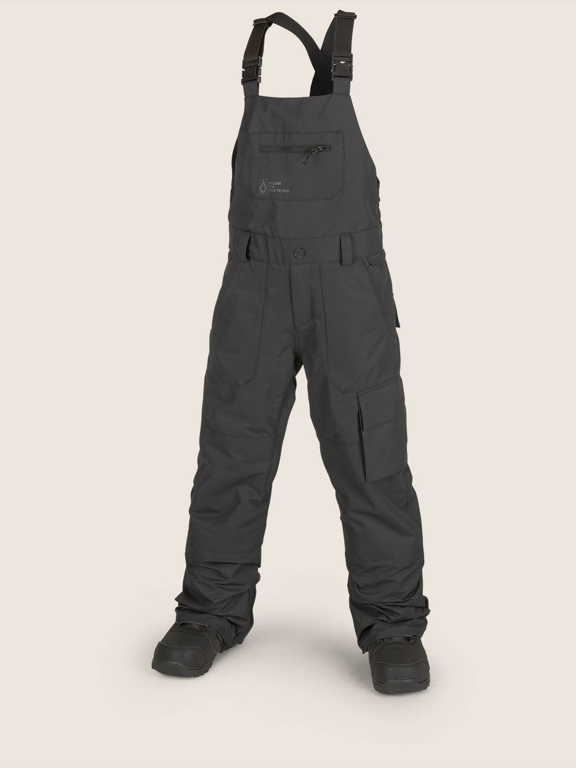 Barkley Bib Overall In Black, Front View