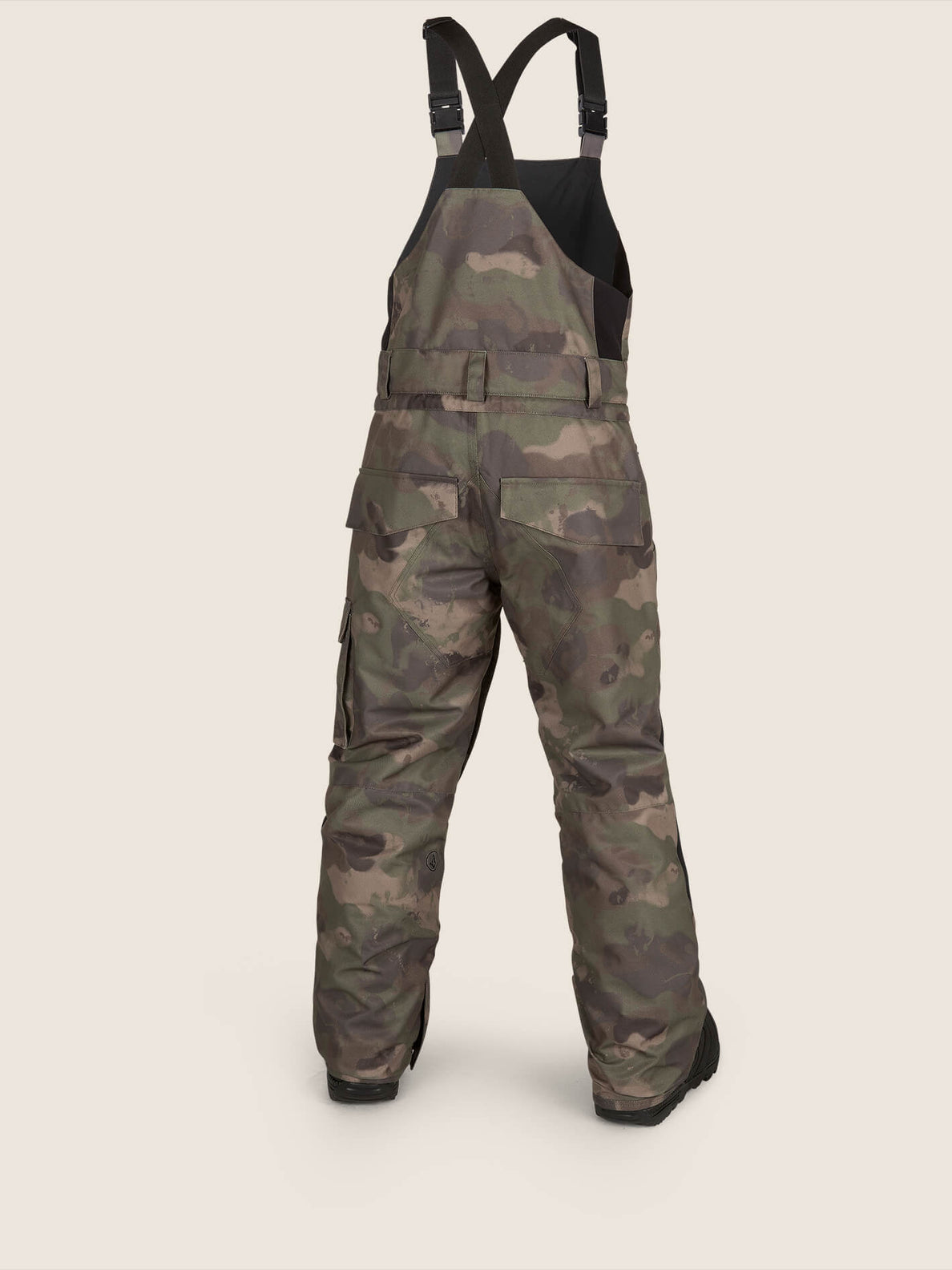 Barkley Bib Overall In Camouflage, Back View