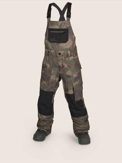 Barkley Bib Overall In Camouflage, Front View