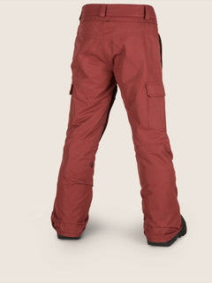Cargo Insulated Pant In Burnt Red, Back View