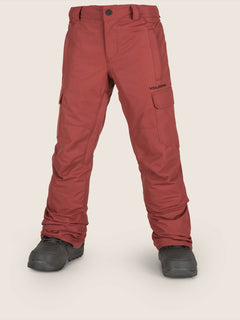 Cargo Insulated Pant In Burnt Red, Front View