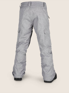 Cargo Insulated Pant In Heather Grey, Back View