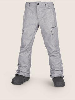 Cargo Insulated Pant In Heather Grey, Front View