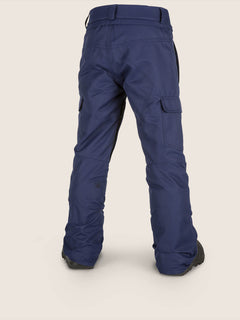 Cargo Insulated Pant In Navy, Back View