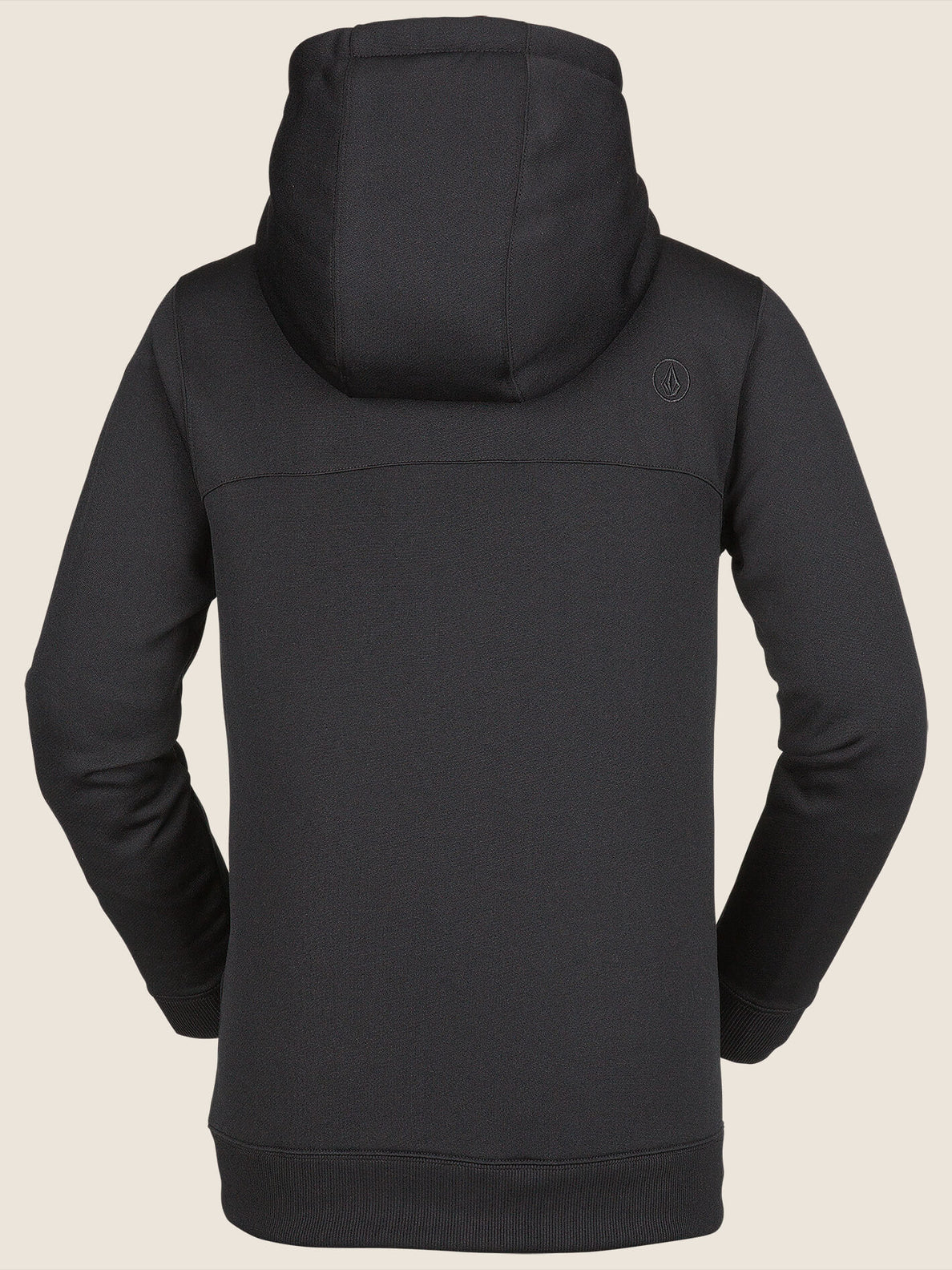 Krestova Fleece In Black, Back View