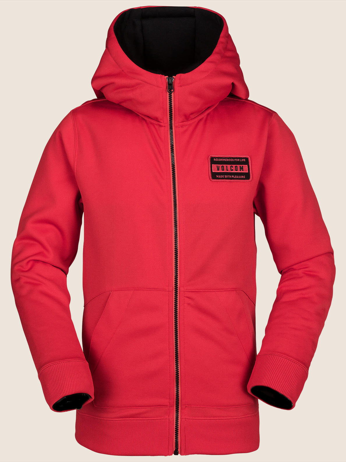 Krestova Fleece In Fire Red, Front View