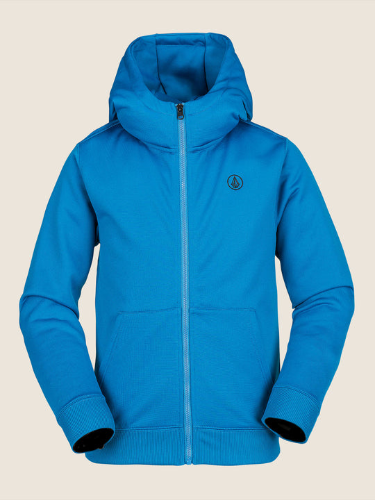 Grohman Fleece In Blue, Front View