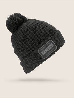 Ttt Lined Beanie In Black, Front View