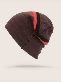 Apres Beanie In Black Red, Back View