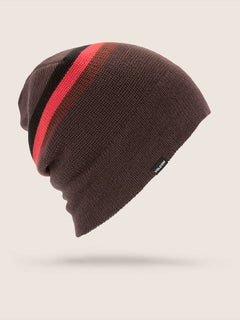 Apres Beanie In Black Red, Front View
