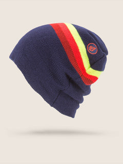 Apres Beanie In Navy, Back View