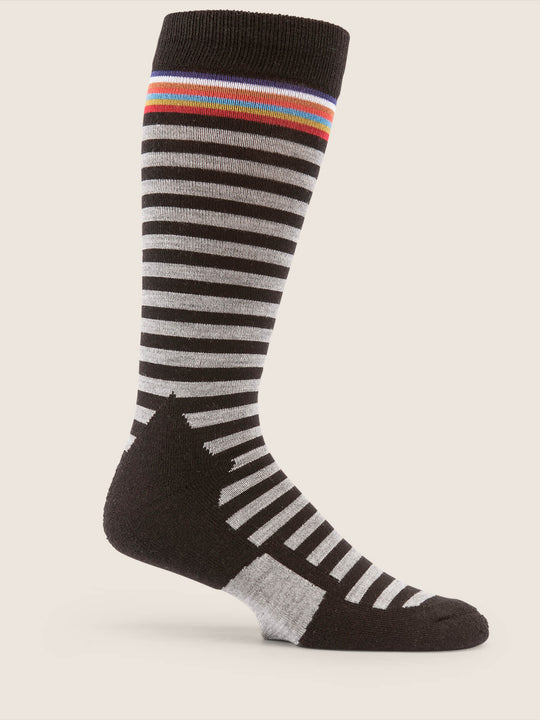 Synth Sock In Black, Back View