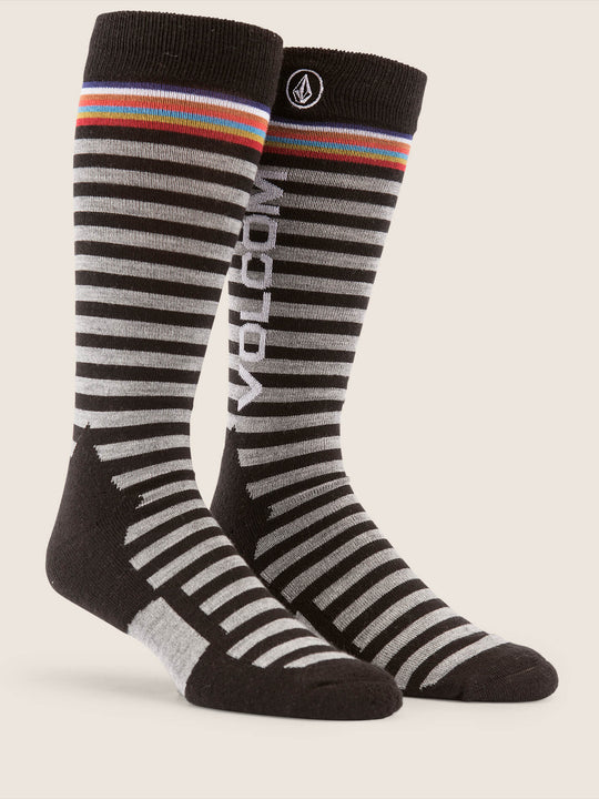 Synth Sock In Black, Front View