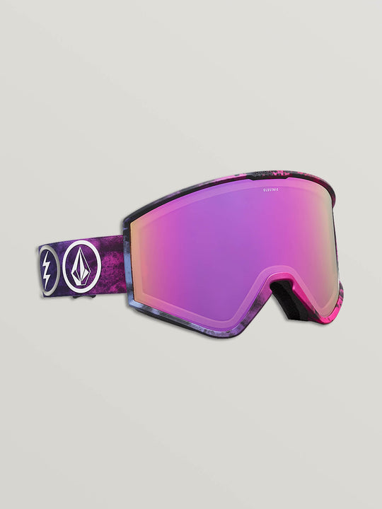 Electric X Volcom Kleveland Goggle In Bright Rose, Front View