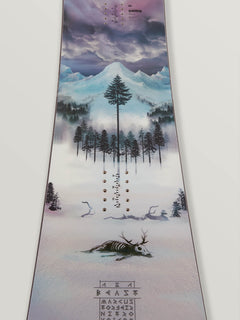 Nitro Beast X Volcom Snowboard In Multi, Back View