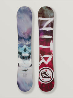 Nitro Beast X Volcom Snowboard In Multi, Front View