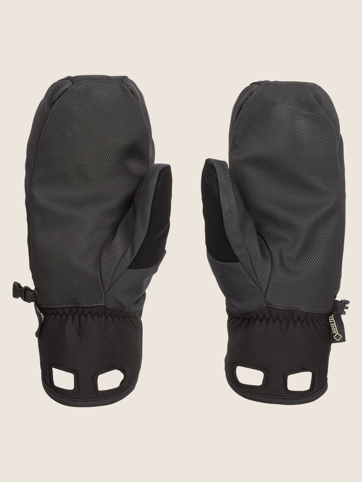 Stay Dry Gore-tex Mitt In Black, Back View