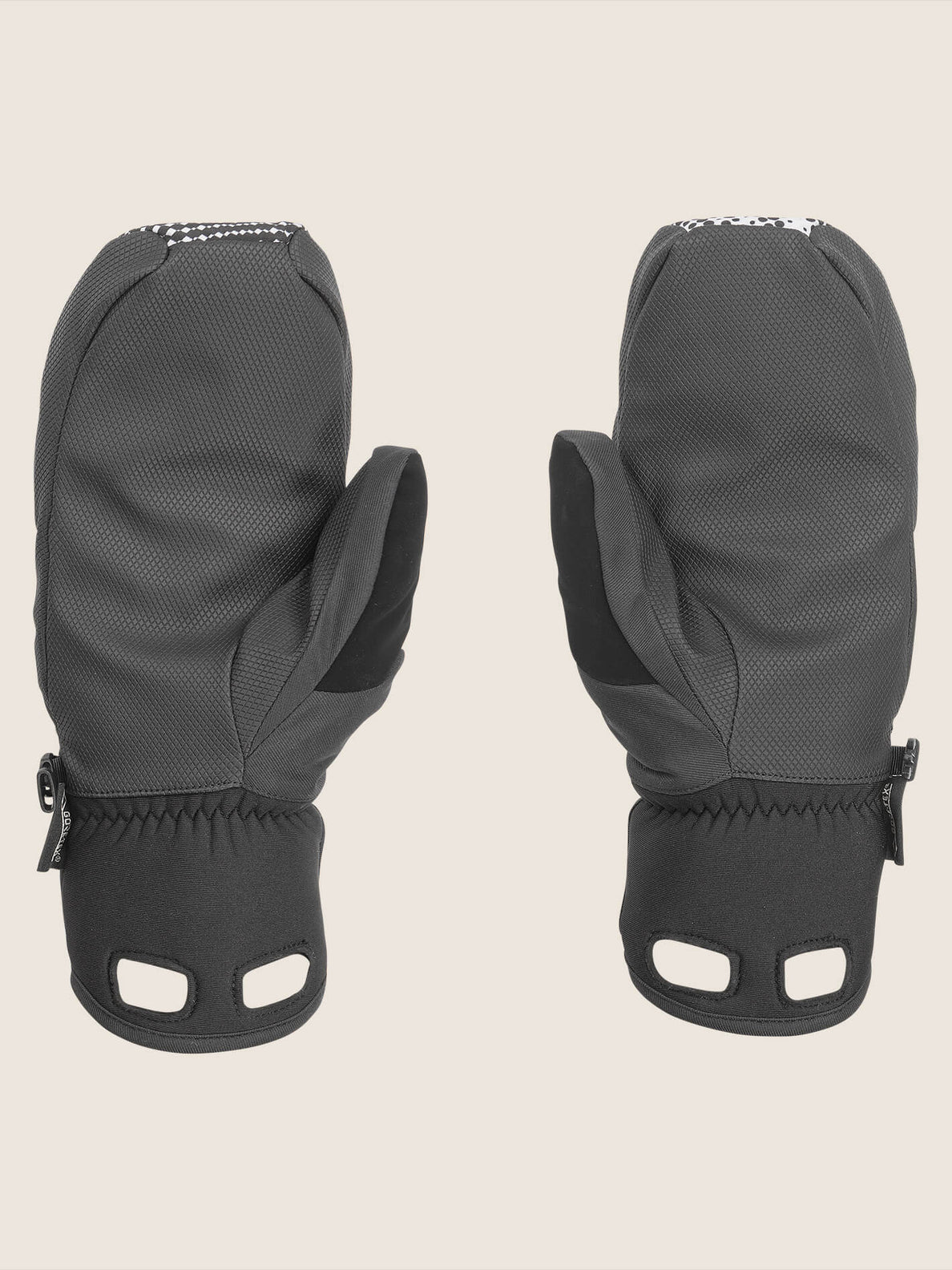 Stay Dry Gore-tex Mitt In Black White, Back View