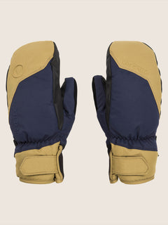 Stay Dry Gore-tex Mitt In Navy, Front View