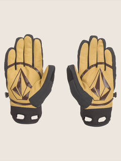 Crail Glove In Resin Gold, Back View