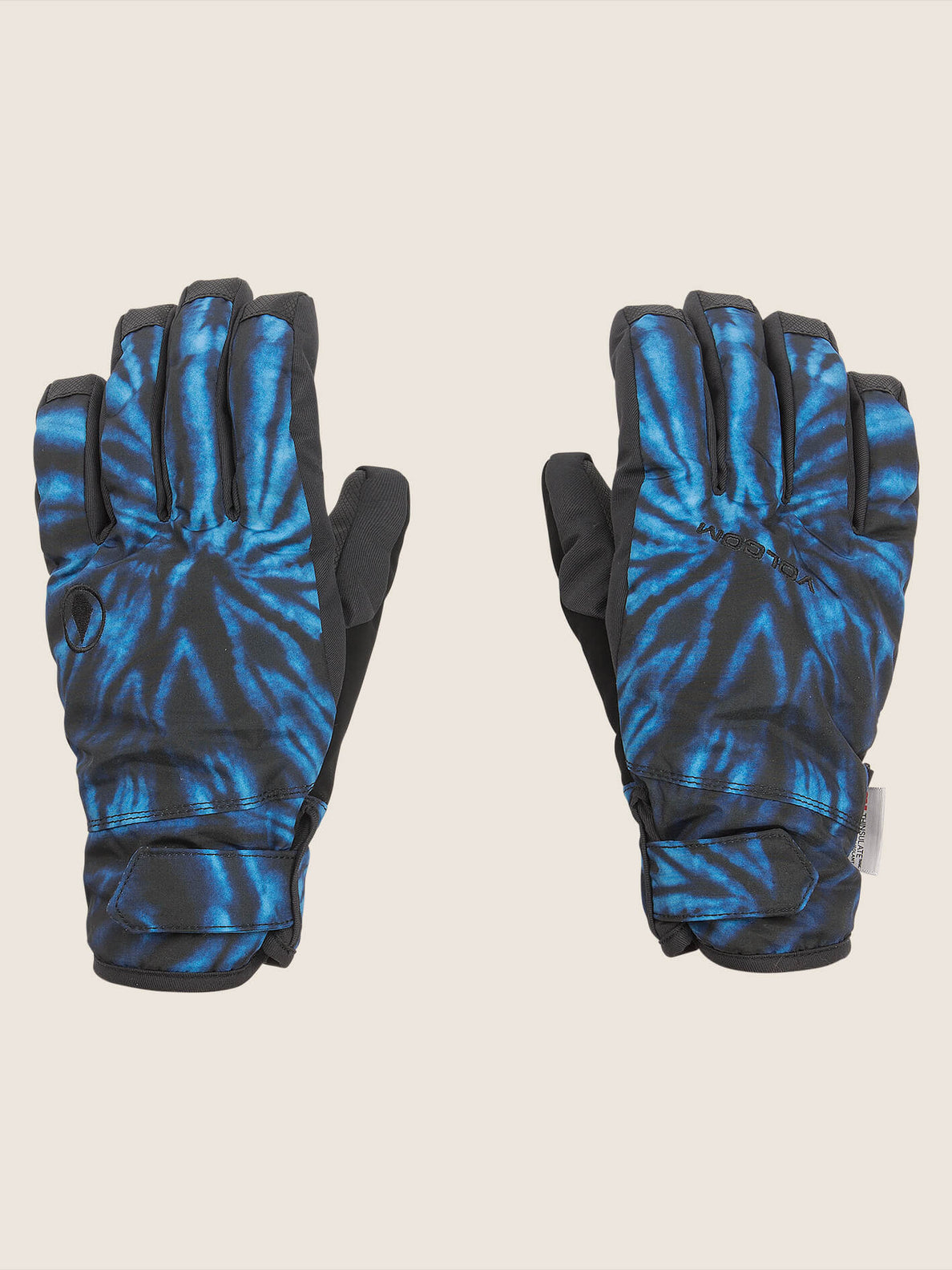 Nyle Glove In Blue Tie-dye, Front View