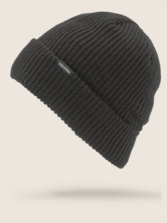 Polar Lined Beanie In Black, Front View