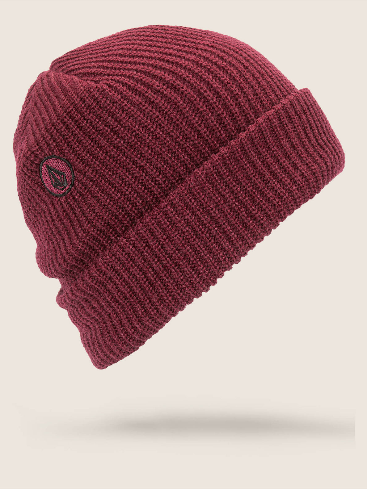 Polar Lined Beanie In Magenta, Back View