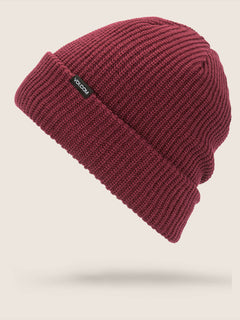 Polar Lined Beanie In Magenta, Front View