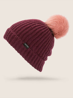 Lula Beanie In Merlot, Front View