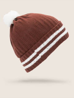 Wiltern Beanie In Burnt Red, Back View
