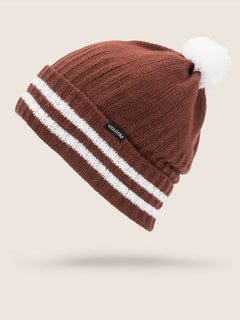 Wiltern Beanie In Burnt Red, Front View