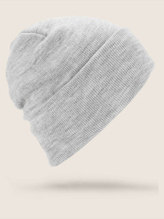 Hope Beanie In Heather Grey, Back View