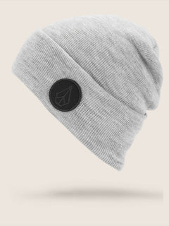 Hope Beanie In Heather Grey, Front View