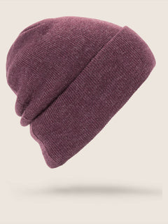 Hope Beanie In Merlot, Back View