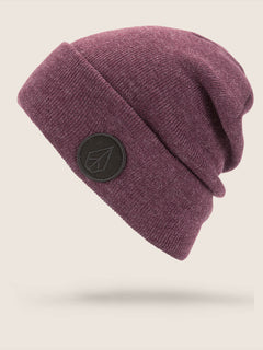 Hope Beanie In Merlot, Front View