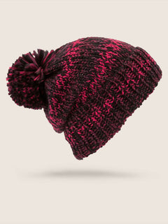 Chevron Beanie In Burnt Red, Back View
