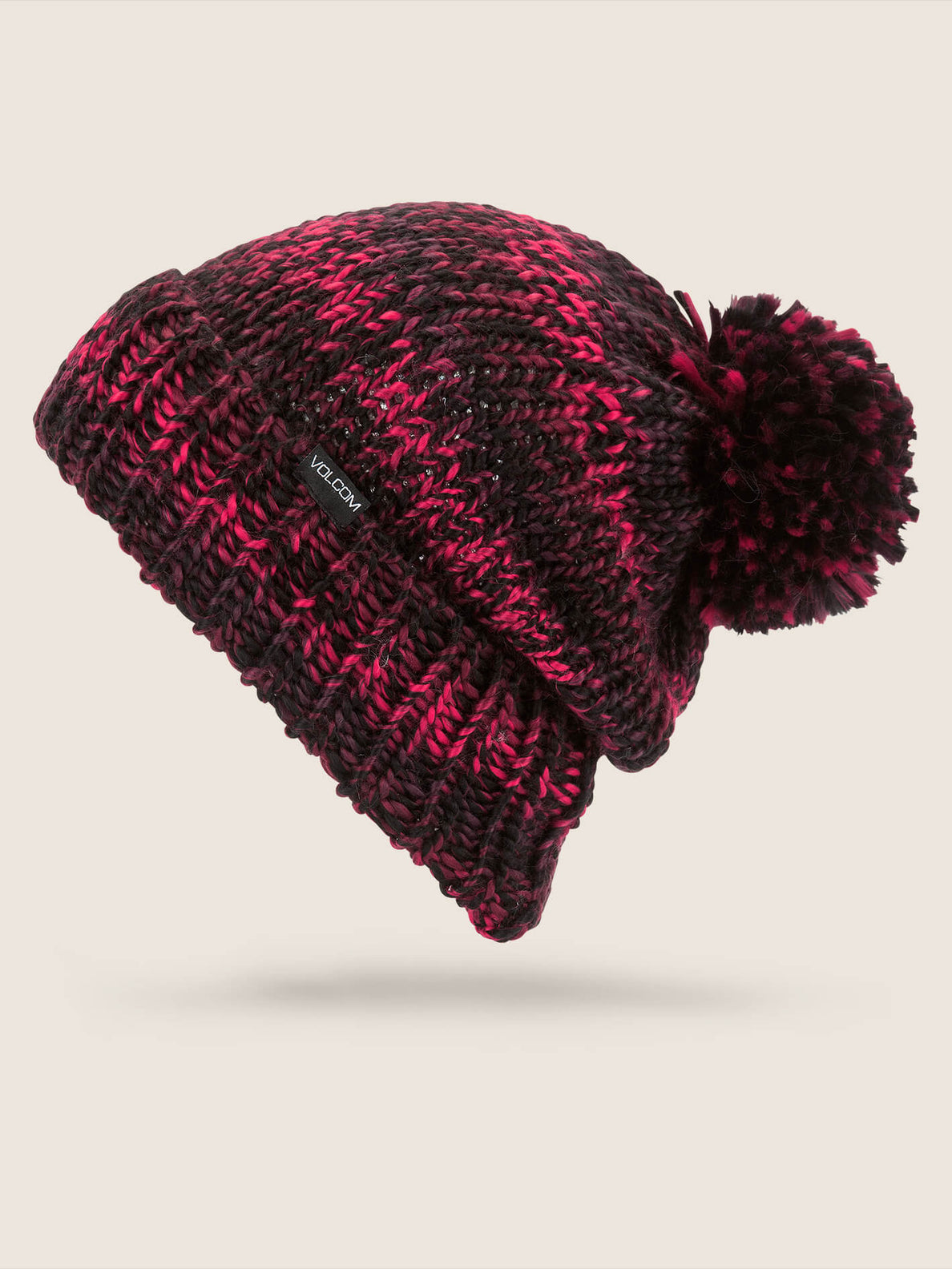 Chevron Beanie In Burnt Red, Front View