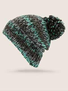Chevron Beanie In Snow Forest, Front View