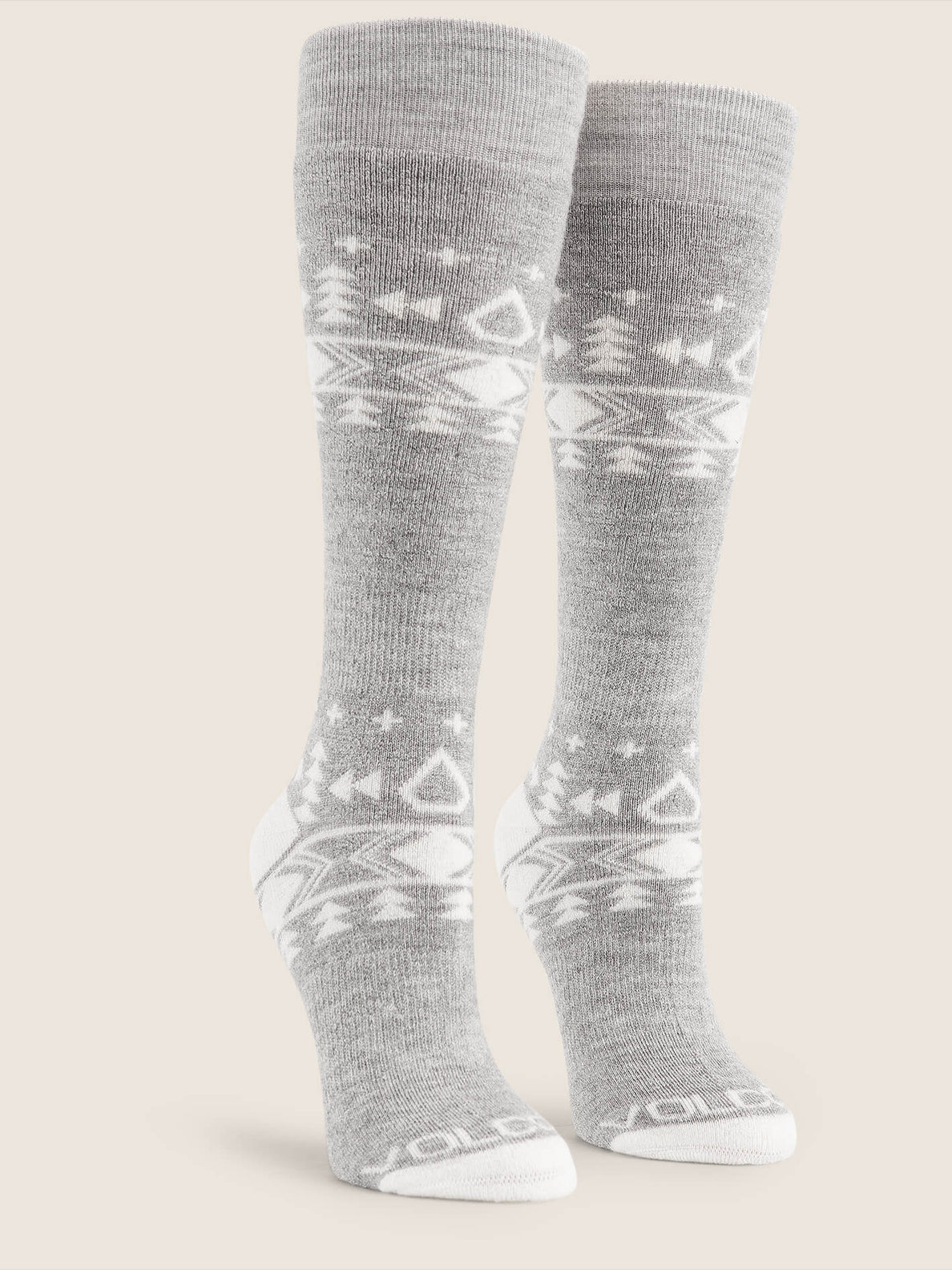 Tundra Tech Sock In Heather Grey, Front View