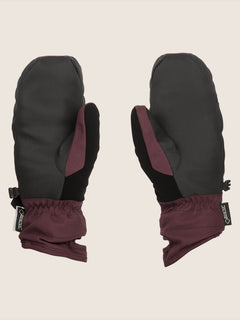 Peep Gore-tex Mitt In Merlot, Back View