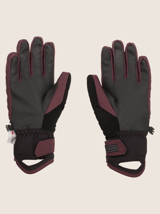 Tonic Glove In Merlot, Back View