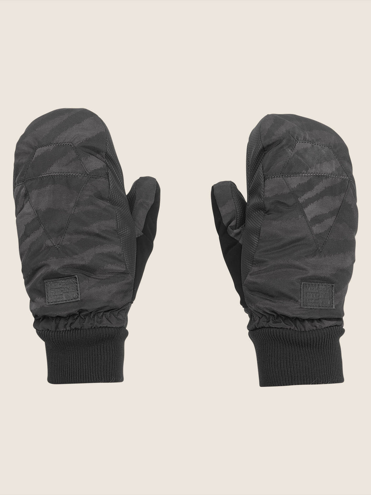 Bistro Mitt In Black On Black, Front View