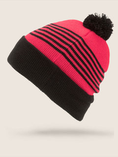 Powder Beanie In Fire Red, Back View