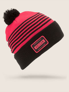 Powder Beanie In Fire Red, Front View