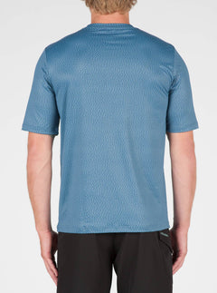 Distortion Surf Shirt In Smokey Blue, Back View