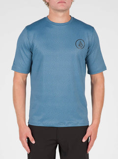 Distortion Surf Shirt In Smokey Blue, Front View
