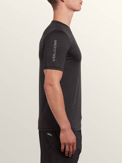 Lido Heather Short Sleeve Rashguard In Charcoal Heather, Alternate View